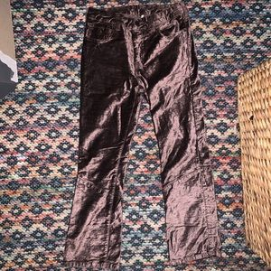 Free People cropped flare velour pants